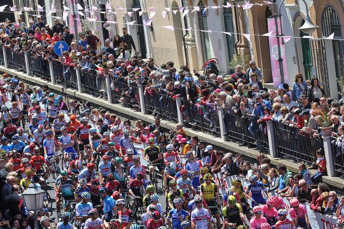 On the start for stage 7 of the Giro d'Italia