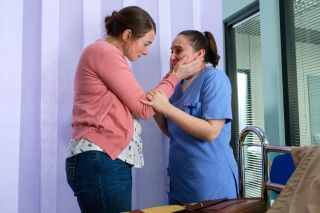 Susie and Jade share an emotional moment in Casualty