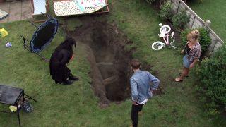 Coronation Street spoilers: A sink hole appears in David Platt's garden!