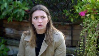 Gabby is upset in Emmerdale
