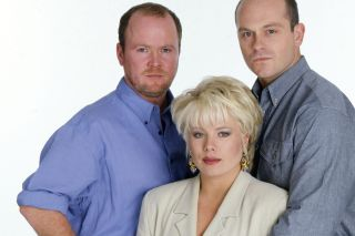 EastEnders Phil Mitchell Sharon Mitchell and Grant Mitchell in 1994
