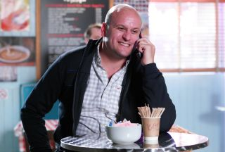 It's the night before Stuart and Rainie's wedding in EastEnders