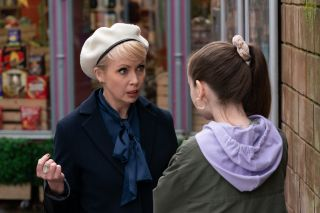 Marnie Nightingale and Juliet Quinn in Hollyoaks