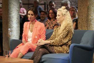 Host Anita Rani with Joana