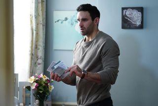 Kush Kazemi ensures that Jean takes her tablets in EastEnders