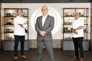 Monica Galetti, Gregg Wallace and Marcus Wareing MasterChef: The Professionals
